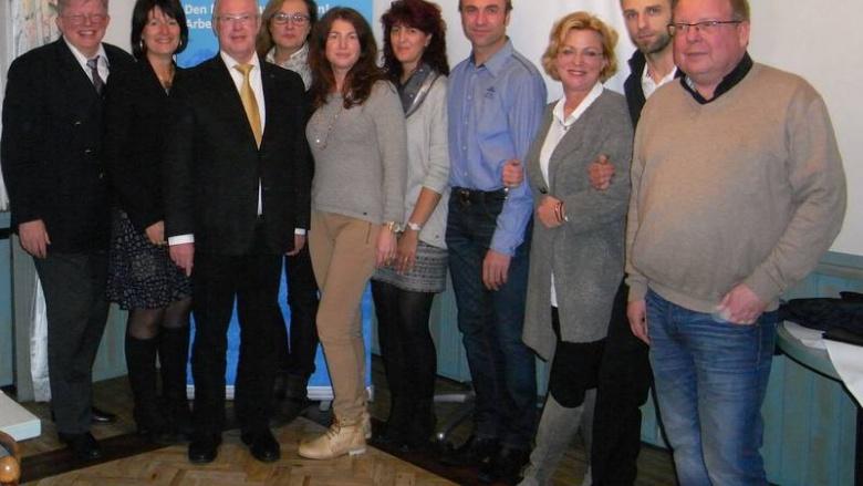 Alle jüngst geworbenen Mitglieder der MIT Delmenhorst nahmen an der Mitgliederversammlung teil. Wir gratulieren.