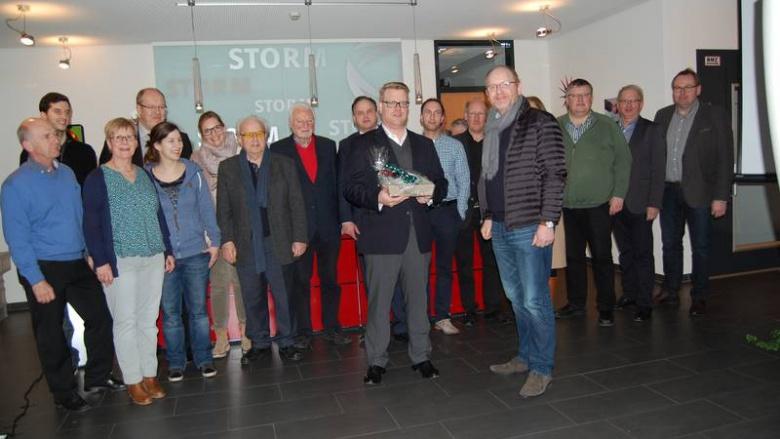 (vordere Reihe von links): Bernard Storm und Wolfgang Paus