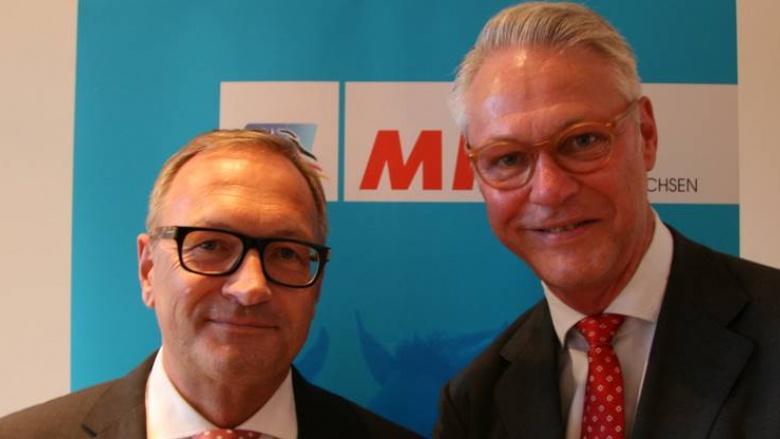 Peter Luths (r.) begrüßte als besonderen Gast der MIT Lüneburg den Leiter der Konzernrevision der Talanx-Gruppe, Andreas Braun